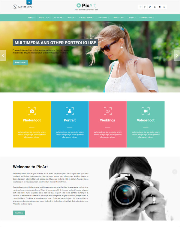Celebrity Photographer WordPress Theme $39