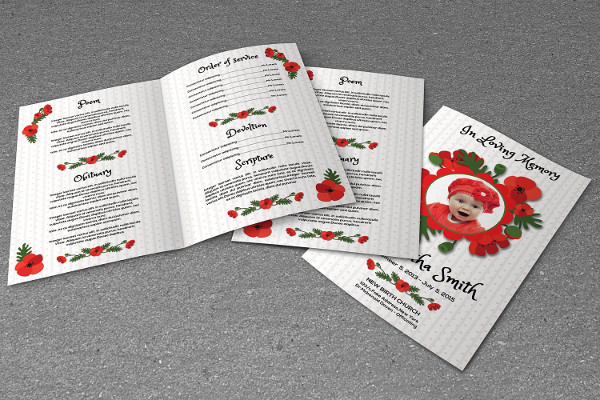 12+ Child Funeral Program Templates - Free & Premium Download