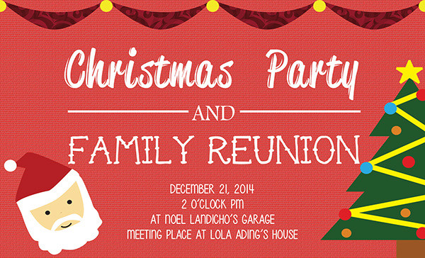 19 family reunion invitation templates free premium download christmas party family reunion invitations stopboris Gallery