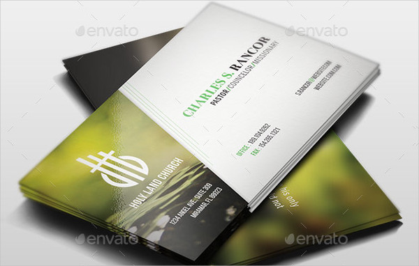 Church Designed Business Card