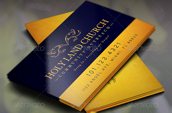 Church Scripture Business Card Template