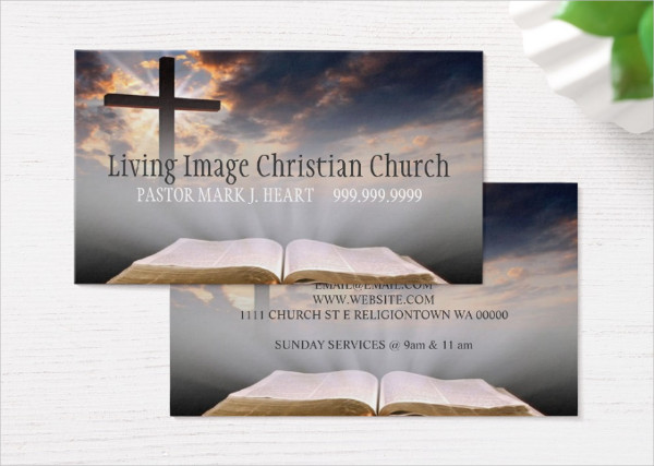 Church Pastor Business Card