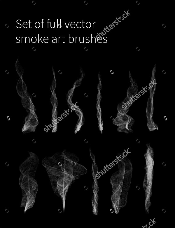 Set of Full Vector Smoke Art Brushes