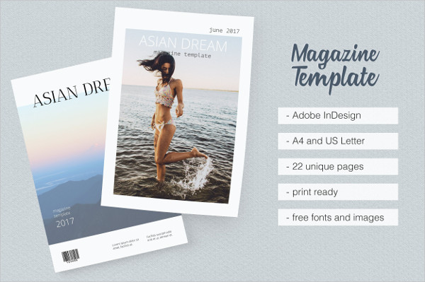 Clean & Minimalist Design Travel Magazine Templates