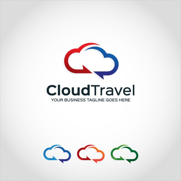 Free Cloud Logo Template Design for Travel