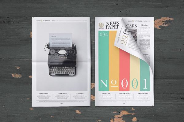 Best Newspaper Mock-Up Set