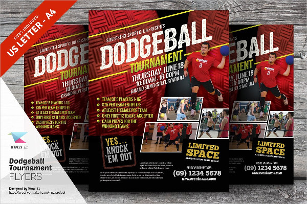 Dodgeball Tournament Flyer Template