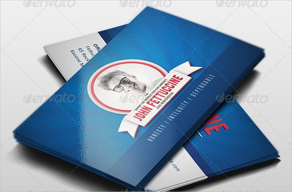 Easy to Edit Political Business Card Template