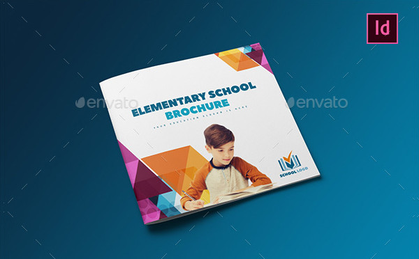 elementary school square brochure template
