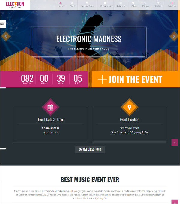 Event Organizers & Celebrity WordPress Theme $47