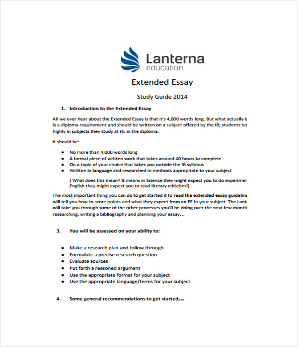 Extended Essay Template