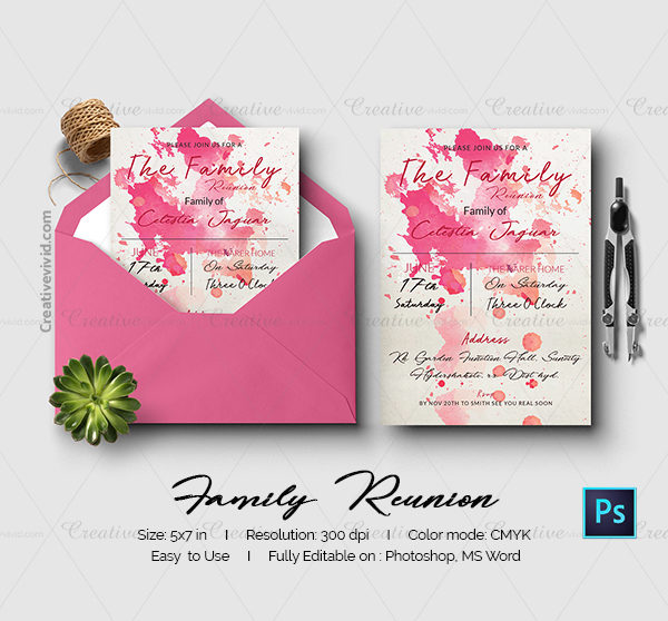 Family Reunion Invitation Templates  MayotteOccasionsCo