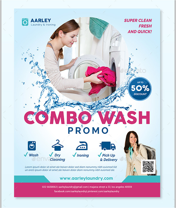 19 Laundry Flyer Templates Free Amp Premium Download
