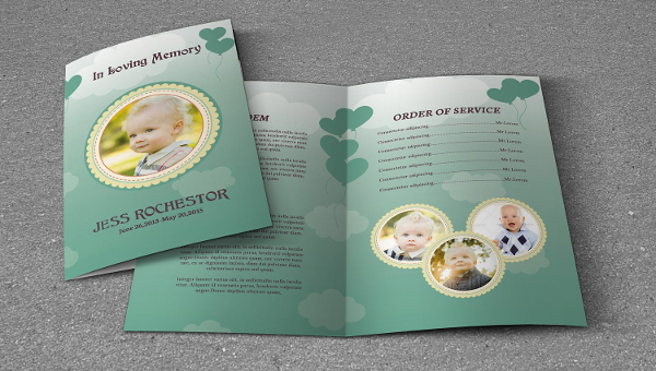 Child Funeral Program Templates  Free  Premium Download