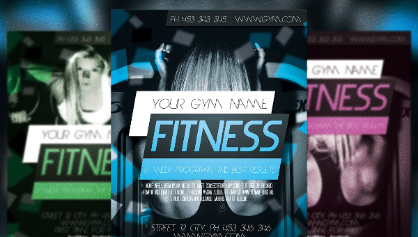 Lovely Fitness Flyer  Fitness Templates Free