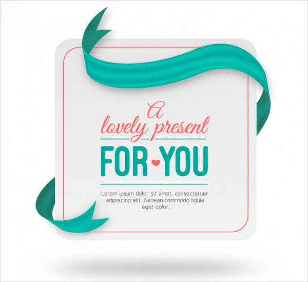 Free Lovely present tag template