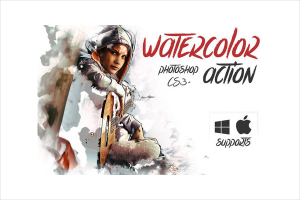 Watercolor & Pencil Photoshop Action Free Download