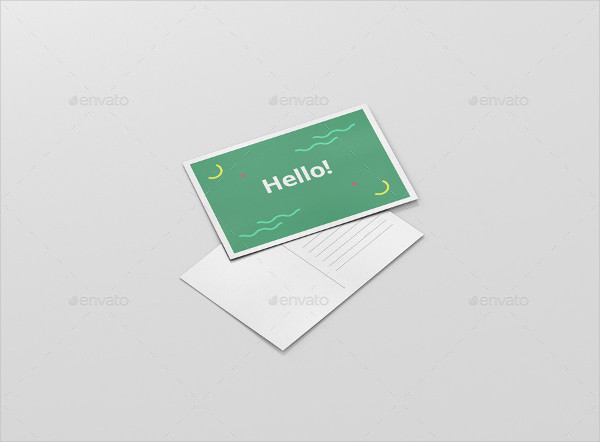 Fully Customizable Postcard Mock-Up