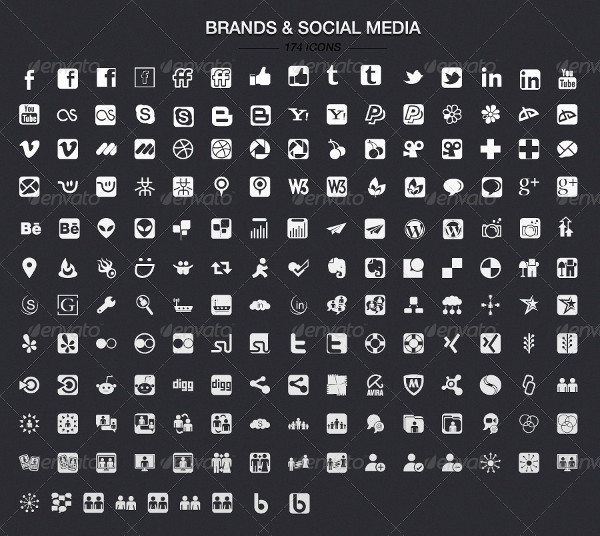 Fully Editable Icons Vector
