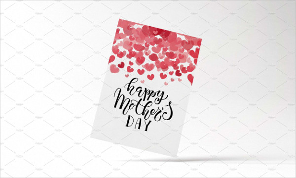 Happy Mother's Day Lettering Typography Card