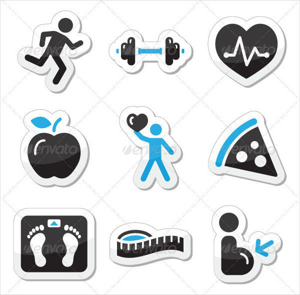 Health & Fitness Icons Set