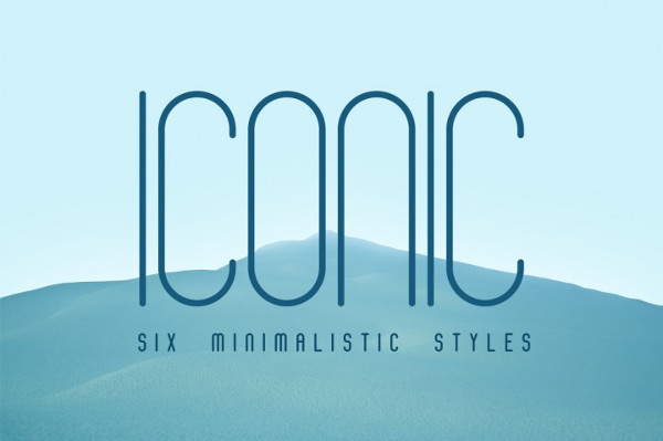 Iconic Font in 6 Styles