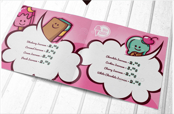 Creative Kids Menu Template
