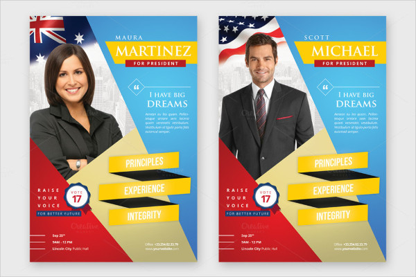 Election Brochure. Vote Election Flyer Template - Flyers Vote ...