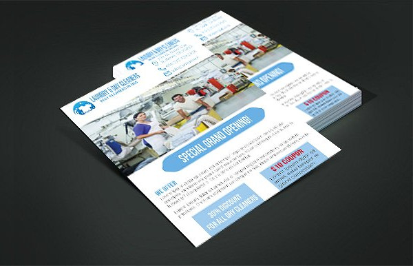 Editable Laundry & Dry Cleaners Flyer Template