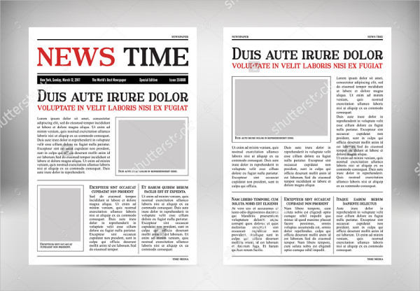 Newspaper Vertical Mockup
