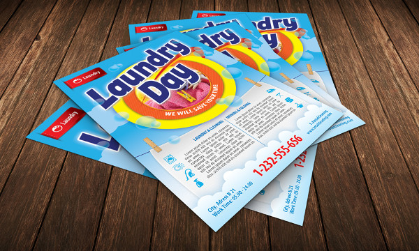 19 laundry flyer templates free psd ai eps format for Ironing service flyer template
