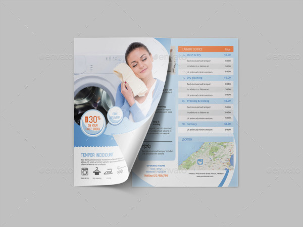 Laundry Services Customizable Flyer Template