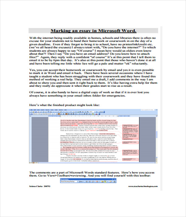 Microsoft Word Essay Template