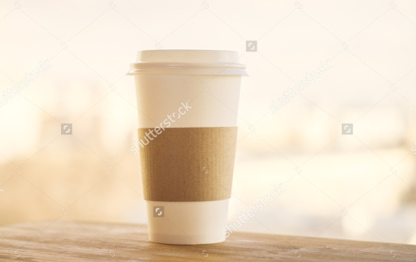 Mockup of Plastic Coffee Cup