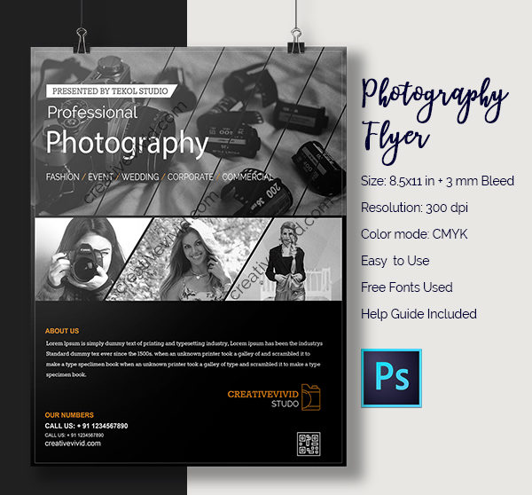 Photography Flyer Templates Free Premium Download - Photography brochure template free