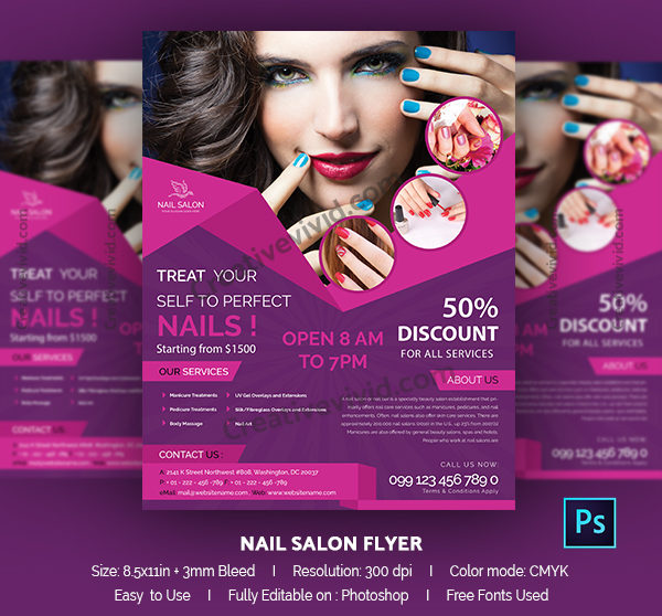 13 Nail Salon Flyer Templates Free Psd Ai Eps Format Download Flier