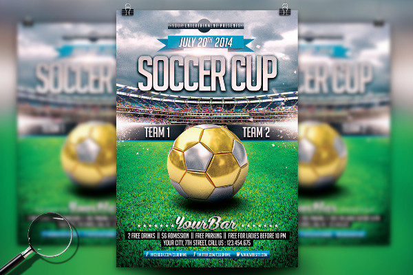 Modern Soccer Cup Template