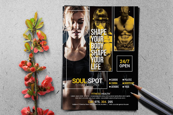 Fitness Flyer Templates  Free Psd Ai Eps Format Download
