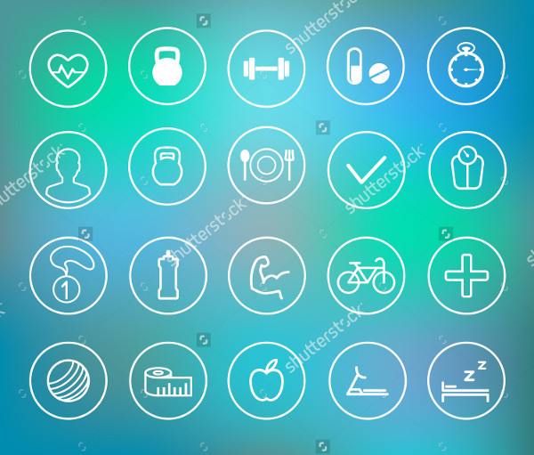 Fitness Vector Icons Collection