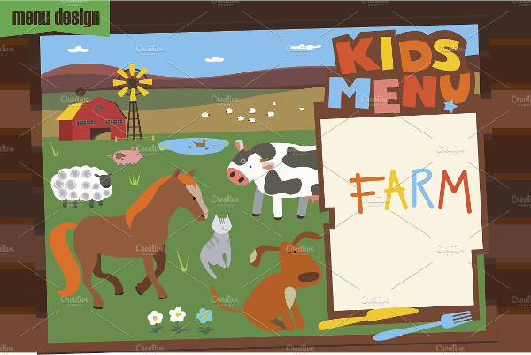 Nature Kids Menu Template