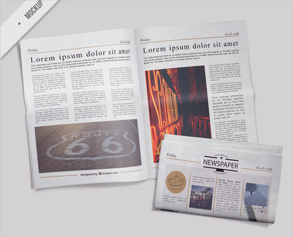 Free PSD Newspaper Mockups Download