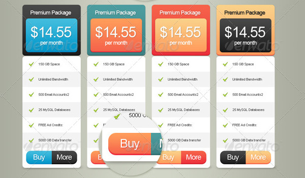 Premium Pricing Tables Package