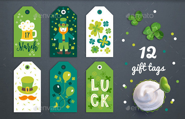 Patrick Gift Tags & Sticker