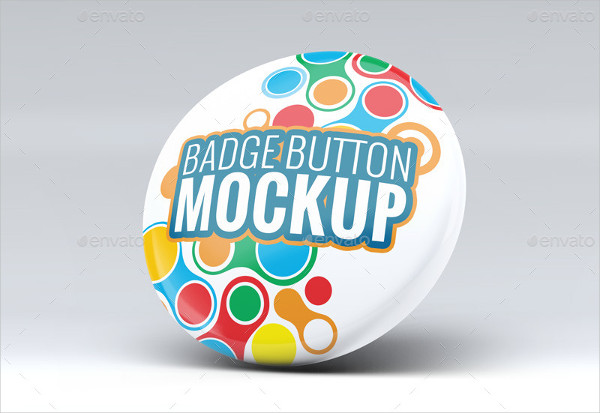 Pin Badge Button Mock-Ups Set