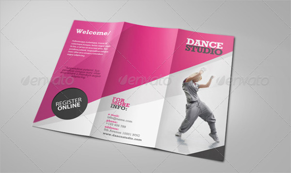 Dance Studio Brochure Templates  Free  Premium Download