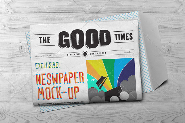 Popular Newspaper PSD Mockup