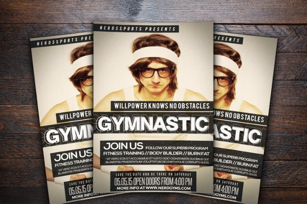 Printable Gymnastic Flyer Template