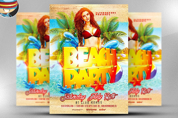 Professional Party Flyer Of Beach