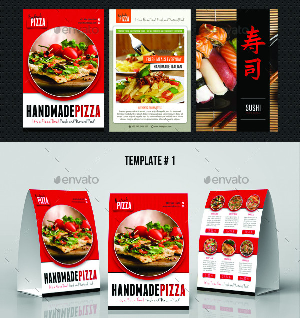 Restaurant Table Tent Templates Bundle  sc 1 st  Creativevivid.com : restaurant table tents - memphite.com