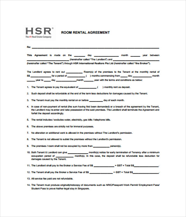 Rental Agreements   Free Word Pdf Documents Download